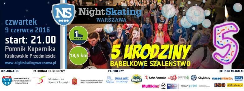 5 urodziny NightSkating Warszawa